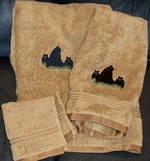 3pc 100% Cotton Towel Set - Toast - Bear and Cubs EM10332.TST.LBF