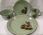 FM10209.LWC - 16pc Fresh Meadow Dinnerware Set - Whitetail Deer Couple FMDW.LWC