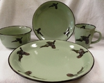FM10209.PHS - 16pc Fresh Meadow Flying Pheasant Dinnerware Set FMDW.PHS
