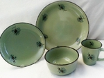 FM10209.PINE - 16pc Fresh Meadow Dinnerware Set - Pine Cone Series FMDW.PINE