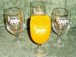 GP10122E.BERS - Iced Tea Goblet - Sand Carved - Bear and Mountain Silhouette (Set of 4) GP10122E.BERS