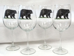 GP10123.BLKB - 19oz. Tulip Wine Elegance Black Bear Glass GP10123.BLKB
