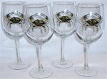 GP10123.CRB 19oz. Elegance Tulip Blue Crab Wine Glasses GP10123.CRB