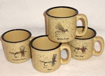 GP10148.FLYA - Almond 15oz Trail Mug - Dry Flies Series (Set of 4) GP10148.FLYA
