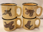 GP10148.UPLA - Almond 15oz Trail Mug - Upland Gamebird Series (Set of 4) GP10148.UPLA