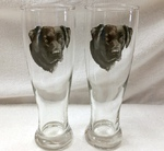GP821.BLAB - Black Lab Head Pilsner (2pc Set) GP821.BLAB