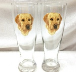 GP821.YLAB - Yellow Lab Head Pilsner (2pc Set) GP821.YLAB