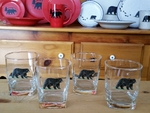 GP834.BLKB - Square Hi-Ball Glasses - Black Bear (Set of 4) GP834.BLKB