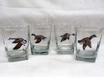 GP834.WFLA - Square Hi-Ball Glasses - Waterfowl Series (Set of 4) GP834.WFLA