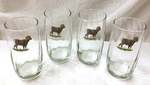 GP843.BHS - Round Optic 17oz. Beverage Glasses - Bighorn Sheep GP843.BHS