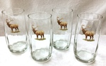 GP843.ELKB - Round Optic 17oz. Beverage Glasses - Standing Elk GP843.ELKB
