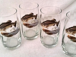 GP843.JBAS - Round Optic 17oz. Beverage Glasses - Jumping Bass (set of 4) GW843.JBAS