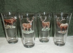 GP850.BGMB Big Game Animal Series  Pint Glasses (Set of 4) GP850.BGMB