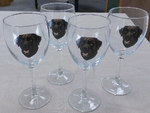 GP890.CLAB - Wine Goblet (set of 4) - 11oz. - Chocolate Lab GP890.CLAB