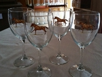 GP890.HRW - Wine Goblet (set of 4) - 11oz. - Western Horses GP890.HRW