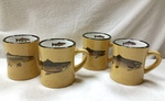 GP10307.TRTA - 10 oz. Almond Diner Mug - Trout Series (Set of 4) GP10307.TRTA