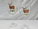 GP10123.MUDB 19oz. Elegance Mule Deer Tulip Wine Glasses (Set of 4) GP10123.MUDB