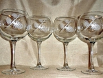 GP10137E.LPP - Balloon Wine Glass 19oz. - Sand Carved - Cones  (Set of 4) GW10137E.LPP
