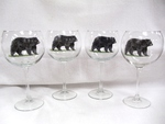 GP10137.BLKB - 19oz. Elegance Balloon Black Bear Wine Glass (set of 4) GP10137.BLKB