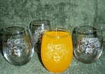 GP10201E.GRA - Stemless Wine Goblets 3 Size Options - Sand Carved -Grapes (Set of 4) GP10201E.GRA