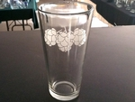 GW10272.HOPS - 20oz. Tavern Glass  - Sand Carved - Hops GW10272.HOPS