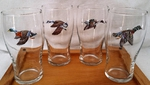 GP10319.WFLA - 20oz Waterfowl Series Conical Schooner Pub Glasses (Set of 4) GP10319.WFLA