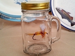 GW10320.HUM - 16oz. Square Mason Drinking Jar - Royal Yellow Humpy GW10320.HUM