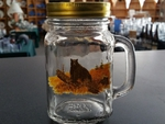 GW10320.LBB - 16oz. Square Mason Drinking Jar - Bear on Log GW10320.LBB