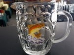 GW10321.JTRT - 20oz Dancing Rainbow Trout Dimpled Window Stein GW10321.JTRT