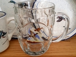 GW10321.MCW - 20oz Flying Mallard Couple Dimpled Window Stein GW10321.MCW