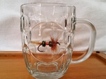 GW10321.RLY - 20oz Dimpled Window Stein  - Royal Wulff Dry Fly GW10321.RLY