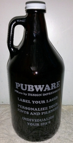 64oz. Custom Engraved Amber Growler GW10327E.CUSTOM
