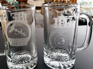 16oz. Classic Tankard Glass Stein Various Custom Designs  GW410.CUSTOM