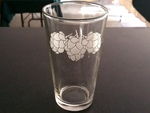 GW450.HOPS - 16oz. The Pint Glass - Sand Carved - Hops GW450.HOPS