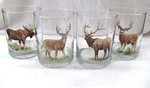 GP832.BGMB - Glass Round Hi-Ball - Full Color Design - Big Game Animals (Set of 4) GP832.BGMB