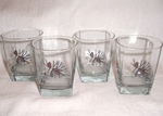 GP834.PINE - Square Hi-Ball Glasses - Pine Cones (Set of 4) GW834.PINE