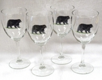 GP890.BLKB - Black Bear Wine Goblets - 11oz. (Set of 4) GP890.BLKB
