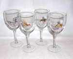 GP890.FLYA - Dry Flies Wine Goblets - 11oz. (Set of 4) GP890.FLYA