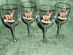 GP890.WTDB - Whitetail Deer Wine 11oz. Goblets (Set of 4) GP890.WTDB