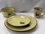 LC10032.LEM - 16pc Lodge Collection Scenic Elk Dinnerware Set LCDW.LEM