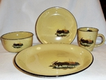 LC10032.LMW 16pc Lodge Collection Scenic Moose Dinnerware Set LCDW.LMW