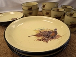 LC10032.PHFC 16pc Lodge Collection Pheasant Scene Dinnerware Set LCDW.PHFC