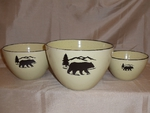 LC10277.BERS - Lodge Collection 3pc Bear Silhouette Serving/Mixing Bowl Set LC10277.BERS