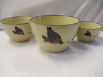 LC10277.LBBTRX - Lodge Collection Bear on Log 3pc Serving/Mixing Bowl Set LC10277.LBBTRX