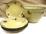 LC10278.FLYA - Lodge Collection 5pc Dry Flies Pasta/Salad Set LC10278.FLYA