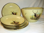 LC10278.LEC - Lodge Collection 5pc Scenic Elk Couple Pasta/Salad Set LC10278.LEC