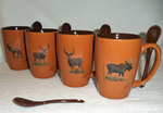 GP10301.BGMB - Terracotta Rust with Big Game Animal Series SB10301_BGMB