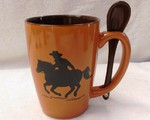 SB10301.CWBY - Terracotta Rust with Cowboy Silhouette SB10301_CWBY