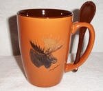SB10301.MOSA - Terracotta Rust with Moose Head SB10301.MOSA
