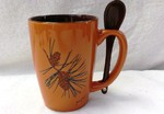 SB10301.PINE3 - Terracotta Rust with Pine Cone SB10301_PINE3